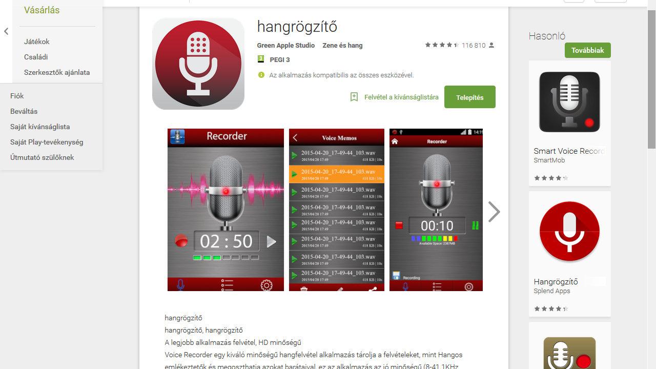 Google Play Áruház: Sok hasznos holmi!